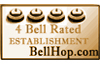 Four Bell Rated Establishment by bellhop.com